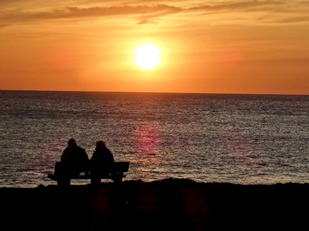 Watching the sun go down in Porthcawl