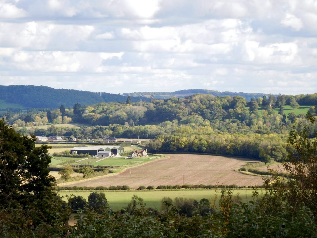 Herefordshire valley landscape